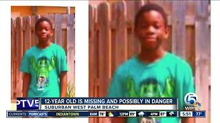 12-year-old boy missing in suburban West Palm Beach - Video