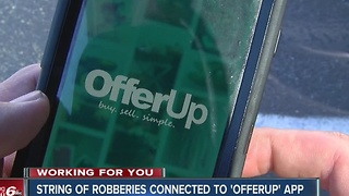 String of robberies connected to 'OfferUp' app