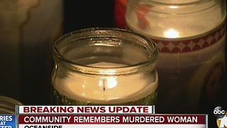 Community remembers murdered woman - Video