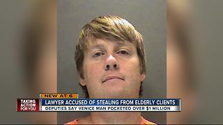 Lawyer accused of stealing from elderly clients - Video