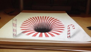 Artist creates mind blowing anamorphic illusion - Video