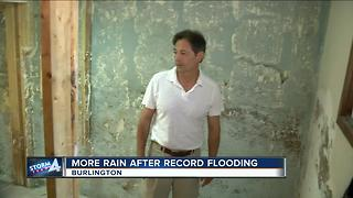 Burlington residents fear deja vu as rain pours following floods - Video