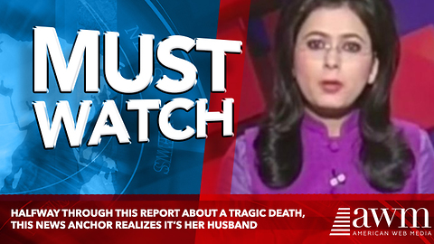 Halfway Through This Report About A Tragic Death, This News Anchor Realizes It's Her Husband