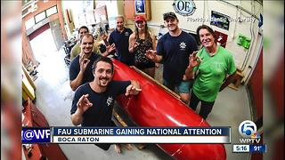 FAU submarine gaining national attention - Video