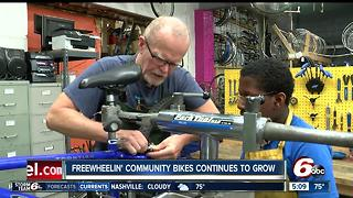 Freewheelin' Community Bikes continues to grow - Video