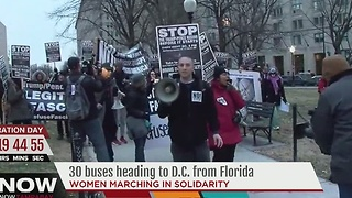 Women's March in DC expects big crowd, smaller events being organized in Florida - Video