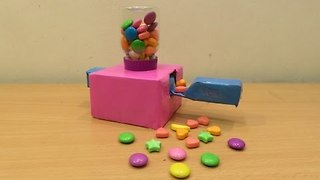 How to Make a Candy Machine at Home (Mini Candy Machine) - how made toy for kids  - Video