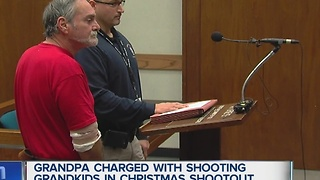 Grandpa charged with shooting grandkids - Video