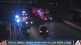 Police arrest driver after high-to-low speed chase