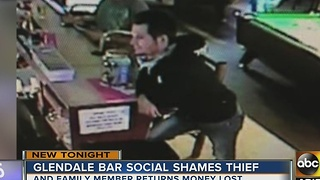Glendale bar socially shames a donation jar thief - Video