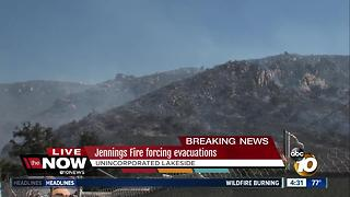 Jennings Fire forces evacuations in Lakeside - Video