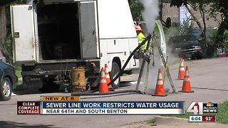 Sewer work restricts water usage in part of KC - Video