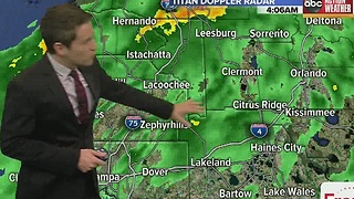 Rain this morning, clearing around midday, staying cool - Video