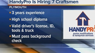 Workers Wanted: HandyPro is hiring 7 craftsmen - Video