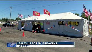 Firework tent owners say business is booming - Video