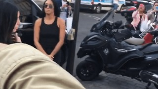 'Prankster' Vitalii Sediuk Fails in Attempt to Kiss Kim Kardashian's Derrière in Paris - Video