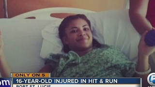 Angelina Horskin: 16-year-old girl hit-and-run victim recovering in hospital - Video