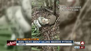 Man shoots Python Trying to Eat Goat - Video
