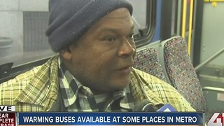 Warming buses available at some places in metro - Video