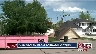 Van stolen from tornado victims - Video