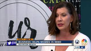 Boynton Beach business helps women in need - Video