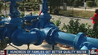 Hundreds of families get better quality water