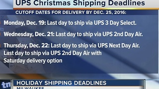 USPS holiday shipping deadline - Video