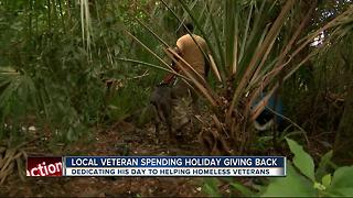 Veteran helps homeless vets on Independence Day - Video