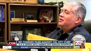 No Charges to be Filed Against Cal City Police Chief - Video