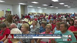 North Fort Myers name change meeting - Video
