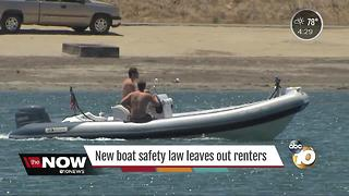 New boat safety law leaves out renters - Video