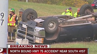 Vehicle accident on Highway 75 - Video