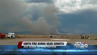 Smith Fire in Cochise County has burned 200 acres - Video