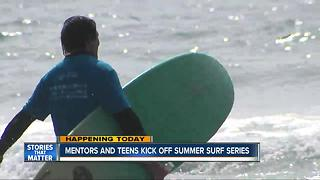 Mentoring program kicks off summer surf series - Video