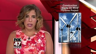 Construction starts on Consumers Energy wind turbine project - Video