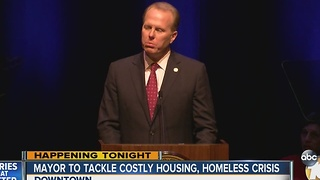 Mayor to tackle costly housing, homeless crisis - Video