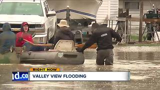 Flooding in Valley View after heavy rains - Video