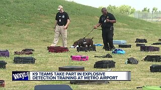 Metro Airport hosts training for bomb sniffing dogs