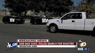 One man shot, police search for shooter