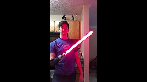Amputee Creates Light-saber Attachment For His Bionic Arm