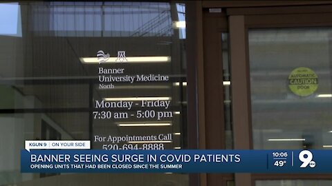 Banner Health seeing increase in COVID-19 patients, could reach June & July totals