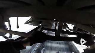 Extreme train surfing under carriage - Video