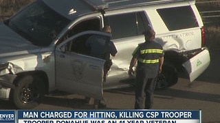 Videos show driver drifted over white line and killed CSP trooper Cody Donahue, arrest report says - Video