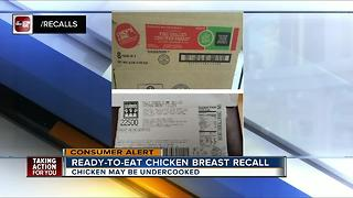 Ready-to-eat chicken breast products recalled due to undercooking