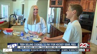 A local 13-year-old is selling cookies to pay for upcoming hockey season