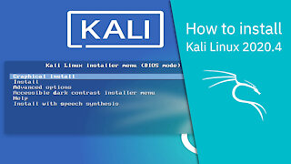 How to install Kali Linux 2020.4
