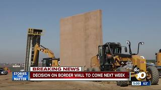 Decision on border wall to come next week - Video