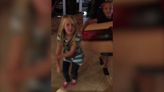 Two Adorable Tots Dance Together