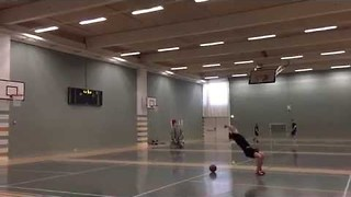 Guy Pulls Off Once in a Lifetime Basketball Trick Shot - Video