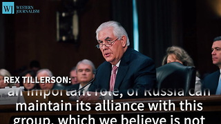 Tillerson Challenges Russia To Join In Stand Against Assad - Video